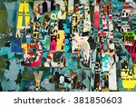 letters collage background or... | Shutterstock . vector #381850603