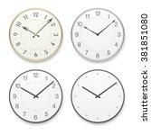 vector clock. set of classic... | Shutterstock .eps vector #381851080