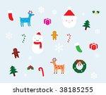 christmas decoration set | Shutterstock . vector #38185255