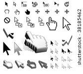 largest set of vector cursor...   Shutterstock .eps vector #38185462