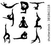 illustration yoga   Shutterstock .eps vector #381861118