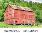 A Beautiful Rustic Red Barn Is...