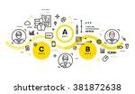 flat style  thin line art... | Shutterstock .eps vector #381872638
