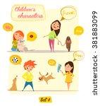children's characters. happy... | Shutterstock .eps vector #381883099