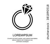 web line icon. diamond ring. | Shutterstock .eps vector #381890518