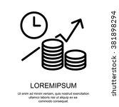 web line icon. business idea ... | Shutterstock .eps vector #381898294