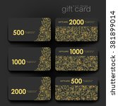 gift coupon  discount card...   Shutterstock .eps vector #381899014