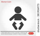 baby icon | Shutterstock .eps vector #381906973