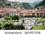 cuzco  peru march 08  2015 ... | Shutterstock . vector #381907528