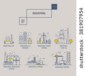 big industrial icon set with... | Shutterstock .eps vector #381907954