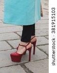 milan  italy   february 24 ... | Shutterstock . vector #381915103