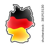 germany map vector symbol icon  ... | Shutterstock .eps vector #381915130