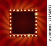 vector billboard in retro style ... | Shutterstock .eps vector #381920998
