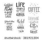 Quote Coffee Typography Set....