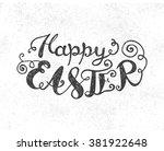 easter vector vintage phrase ... | Shutterstock .eps vector #381922648