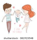 family fun. | Shutterstock .eps vector #381923548