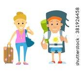 vector set of people traveling. ... | Shutterstock .eps vector #381926458