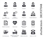 medical services icons set 1  ... | Shutterstock .eps vector #381937048