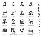 medical services icons set 3  ... | Shutterstock .eps vector #381937090