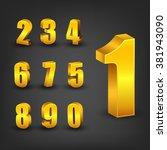 gold number set | Shutterstock .eps vector #381943090