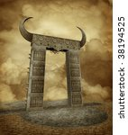fantasy ruins | Shutterstock . vector #38194525