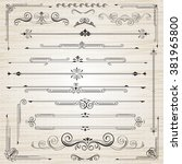 vintage frames and scroll... | Shutterstock .eps vector #381965800