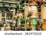 old industrial pipeline... | Shutterstock . vector #381973210