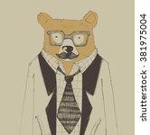 illustrating the bear | Shutterstock .eps vector #381975004