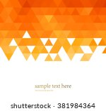 Vector Abstract Orange Color...