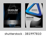 abstract flyer vector... | Shutterstock .eps vector #381997810