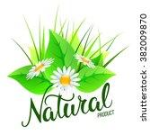 original hand lettering natural ... | Shutterstock . vector #382009870