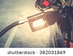 car refueling on petrol station.... | Shutterstock . vector #382031869