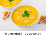 Bowl Of Squash Soup With...