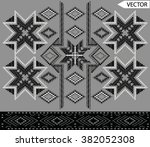 ethnic embroidery graphic... | Shutterstock .eps vector #382052308
