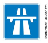 united kingdom motorway sign | Shutterstock .eps vector #382054594