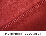 red leather background with... | Shutterstock . vector #382060534