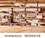 Woodwork Workshop Wall With...