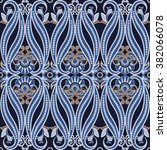 seamless pattern with paisley... | Shutterstock .eps vector #382066078