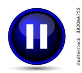 pause icon. internet button on... | Shutterstock .eps vector #382066753