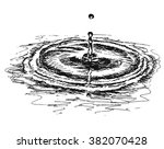 hand drawn water or milk drip... | Shutterstock .eps vector #382070428