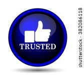 trusted icon. internet button...   Shutterstock .eps vector #382086118