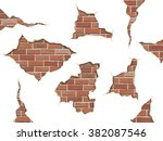 set old shabby concrete and... | Shutterstock .eps vector #382087546