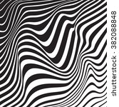 optical art background wave... | Shutterstock .eps vector #382088848