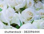 Stock photo white roses 382096444
