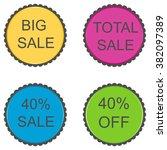 40 percent. discount set of... | Shutterstock .eps vector #382097389
