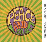 hippie style. ornamental retro... | Shutterstock .eps vector #382097740