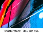 bright colored blue led wall... | Shutterstock . vector #382105456