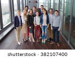 group shot of business people... | Shutterstock . vector #382107400