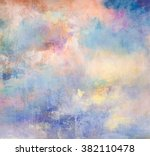 Clouds On Canvas In Oil...
