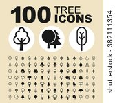 tree and nature icons. park... | Shutterstock .eps vector #382111354